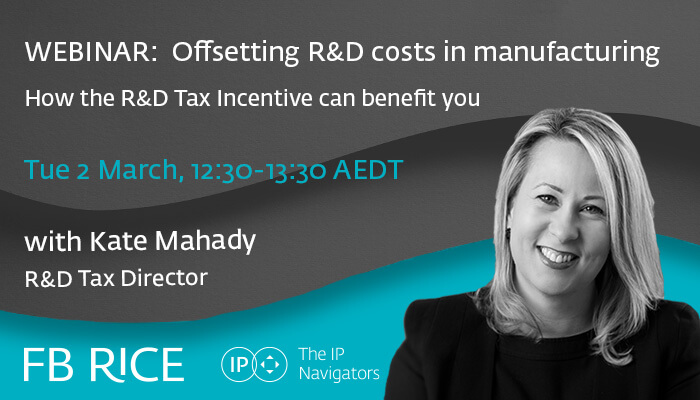 Webinar | Offsetting R&D costs in manufacturing