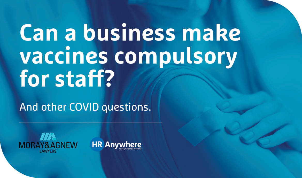 Can a business make vaccines compulsory for staff?